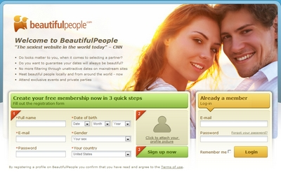 Home do site BeautifulPeople.com